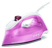 Morphy Richards Iron Steam Dry Spray Stainless Steel Pink 350ml 2400W Easy Fill