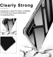CellTime Galaxy A01 Clear Shock Resistant Armor Cover