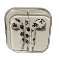 Earphone With Remote Mic For iPhone And Other Smartphones Animal Print