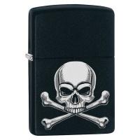Zippo Lighter 218 Skull Crossbones Design