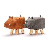 Animal Footstool Ottoman Set for Kids Rhino Cow