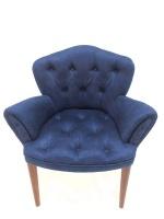 Decorist Home Gallery Lorenzo 2 Navy Blue Arm Chair