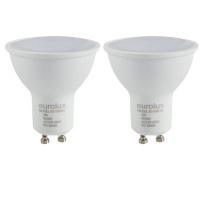 Eurolux Rechargeable LED LampWarm White 3000k 3W GU10 LED Lamp Pack of 2