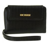Bossi Printed Ladies Medium Wallet Black