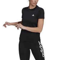 adidas Womens 3 Stripe Training Short Sleeve T Shirt BlackWhite