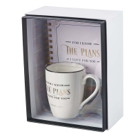 Christian Art Gifts I Know The Plans Gift Set Journal And Mug Boxed Set