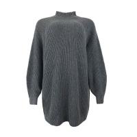 Blackcherry Charcoal Grey Turtle Neck Long Jersey