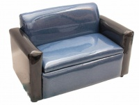 Empire Fabrics Double Seater Kiddies Sofa With Toy Storage Box