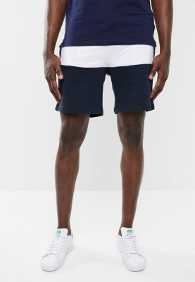 Mens Jack Jones Block Sweat Shorts Sky Captain