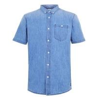SoulCal Mens Denim Shirt Mid Wash