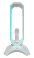 Canyon Gaming Bungee 3 in 1 Headphone Stand 2 Port USB 7 RGB Color White
