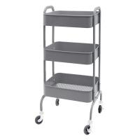 Infinity Homeware Vermont 3 Tier Kitchen Trolley Grey