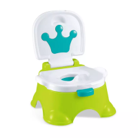 2 in 1 Baby Toilet Potty Training Stepstool Seat Chair Green