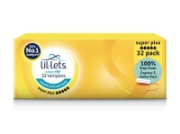 Lil Lets Non Applicator Super Plus Tampons 32s