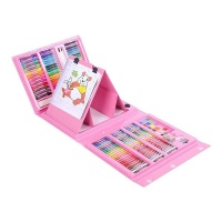BTR 208 Piece Art Set Arts and Crafts Kit Gifts for Kids Pink