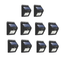 LED Solar Powered LED Wall Light with Night sensor Pack Of 8