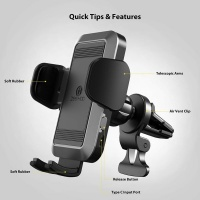 ZEEHOO ZCM1 Automatic Battery Powered Airvent Car Phone Mount