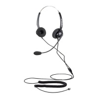 Calltel T800 Stereo Ear Noise Cancelling Headset RJ9 Reverse