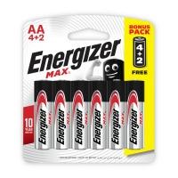 Energizer Max AA Alkaline 6 x 1