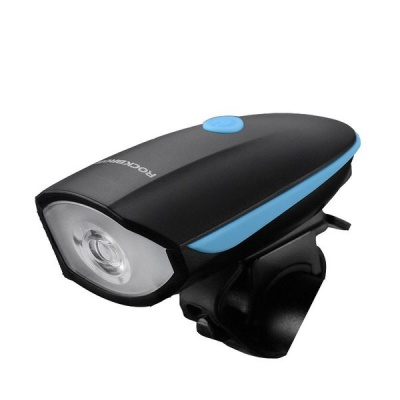 """Photo of Rockbros 2"""" 1 Bicycle Front Light & Remote Control Electric Horn Bell"""