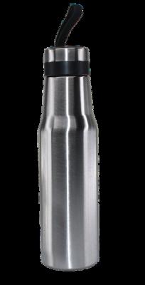 500ml Edelstahl Streamlined Design Hot Cold Vacuum Flask Silver
