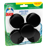 Duck Active Clean In The Cistern Toilet Cleaner Block Green Pack of 5 x 45g