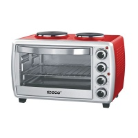 ECCO Mini Cooking Oven With 2 Plate Stove Rotisserie Tray Grill Rack 23 Lt
