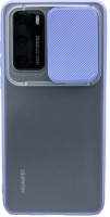 Happy Dayz Huawei P40 Frosted Slider Cover Lavender
