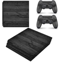 SkinNit Decal Skin For PS4 Pro Black Wood