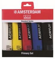Amsterdam Acrylic Paint Primary Set 5 x 120ml