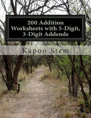 Photo of 200 Addition Worksheets with 5-Digit 3-Digit Addends