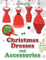 christmas dresses and accessories coloring book