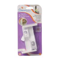 dreambaby adhesive double locks 2 pack lock