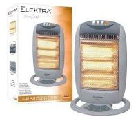 Elektra 3 Bar Halogen Heater Grey