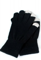 quirky touch gloves black 1 pair accessory