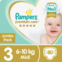 pampers premium care size 3 jumbo pack 80 nappies nappy
