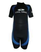 coolwave junior short wetsuit blue and black surfing
