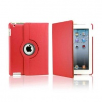 ipad 234 rotatable case red