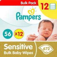 pampers sensitive bulk wipes 12 x 56 672 pack wipe