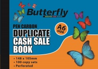 Butterfly A6 Duplicate Book Cash Sale 100 Sheets