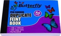 Butterfly A6 Duplicate Book Feint Plain 200 Sheets