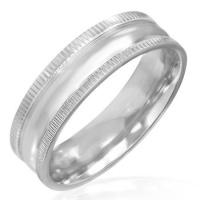 jewelworx 6mm stainless steel engravable milgrain edges jewellery set