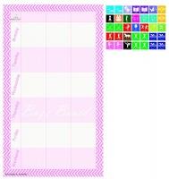 buzz board school activity planner pink calendars planner