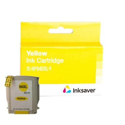 Inksaver Compatible HP 940XL C4909AE High Yield Yellow Ink Cartridge