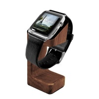 tuff luv moulded charging stand wood for apple watch