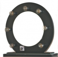 hollywood glam vanity mirror round black mirror