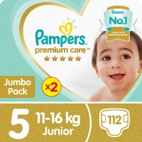 pampers premium care twin jumbo pack 2 x 56 nappies nappy