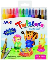 amos 14 twisters rectractable wax crayons crayon