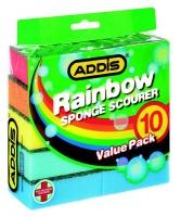 addis rainbow sponge scourer 10 piece bathroom accessory