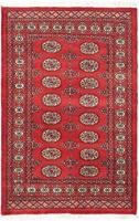 authentic karachi bokhara carpet red 150cm x 100cm home decor